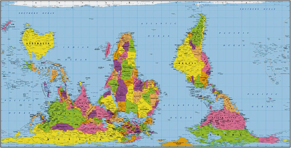 World Map True Country Size. The true size of each country  CycleChat Cycling Forum