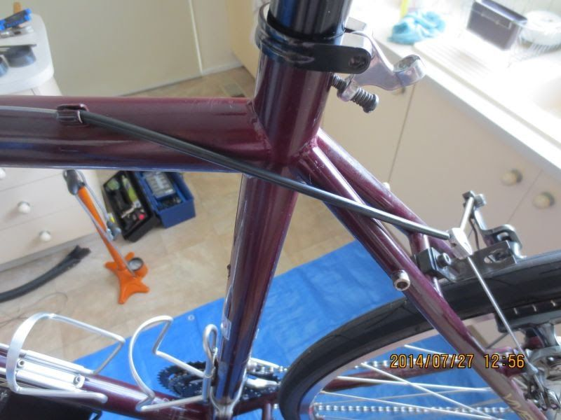 Routing Rear Brake Cable Outer Housing Around Seat Post
