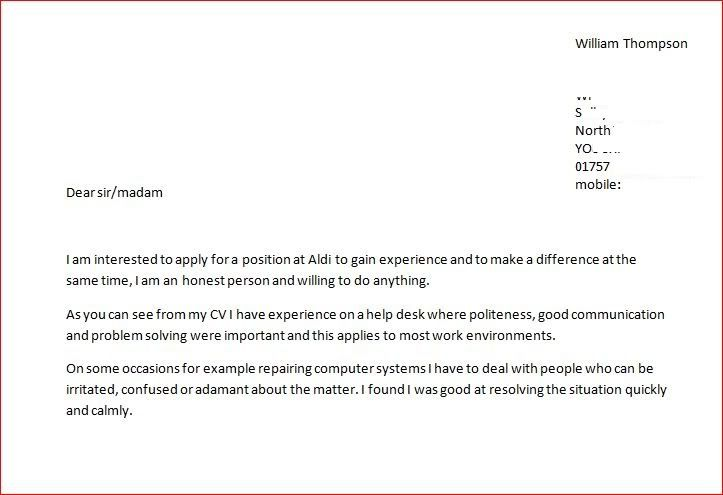 a good cover letter for aldi collegeconsultants