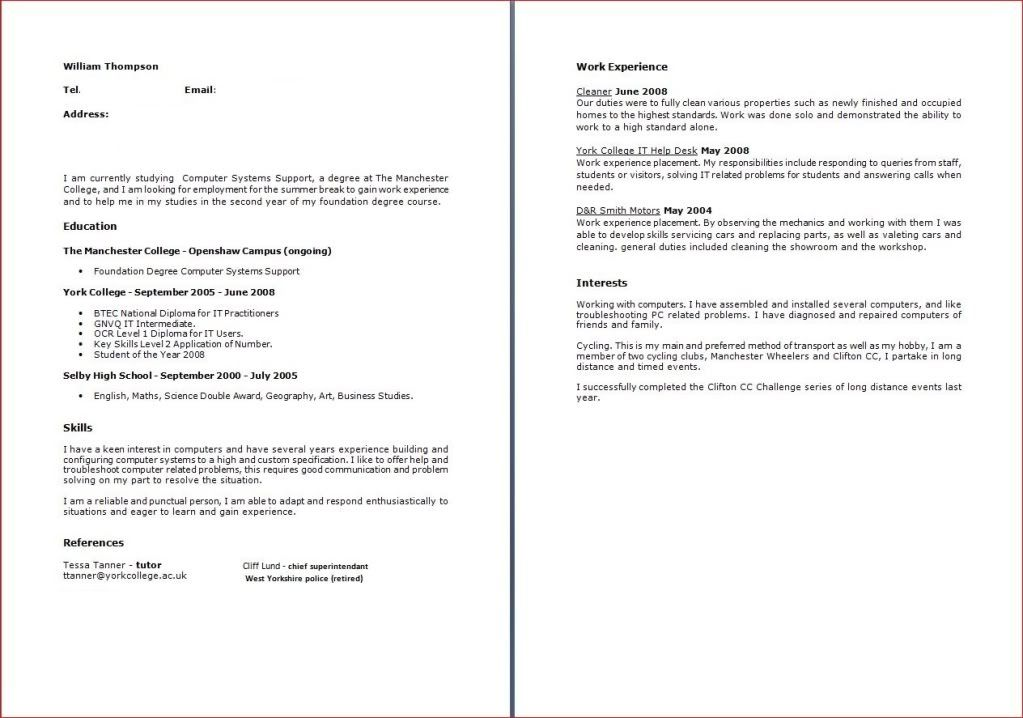 cover letter and cv page 2 cyclechat cycling forum - Cleaner Cover Letter