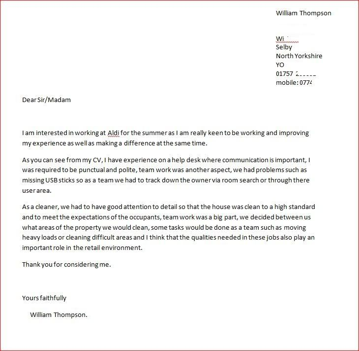 cover letter for any open position - cover letter and cv page 2 cyclechat cycling forum