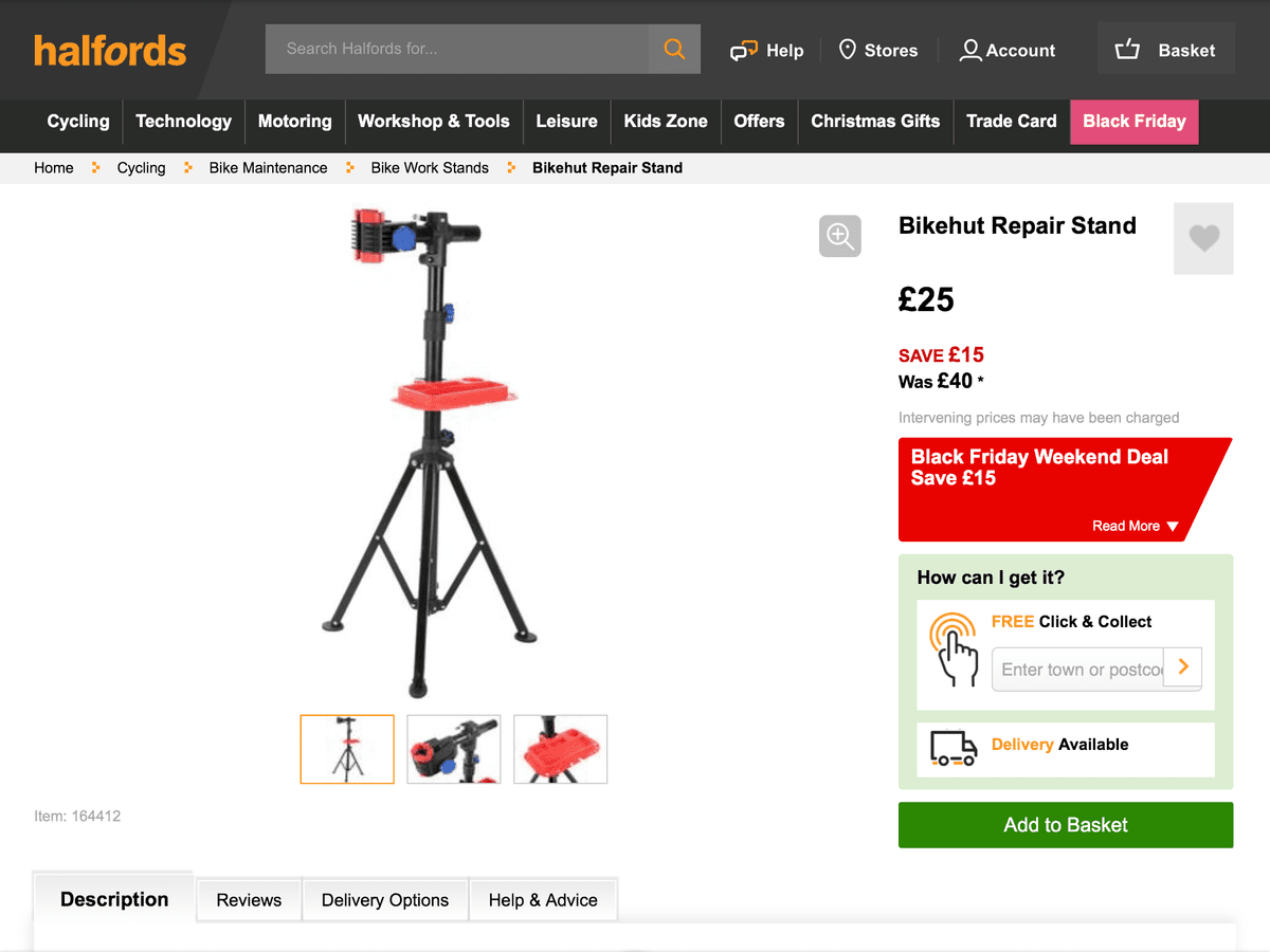Halfords Work stand any good? | CycleChat Cycling Forum