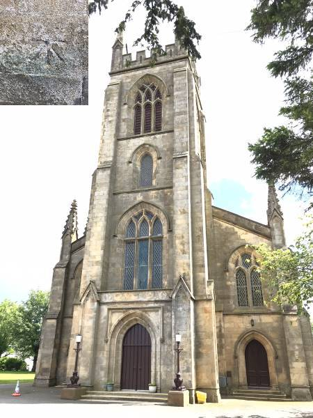 Larbert church and bm.jpg
