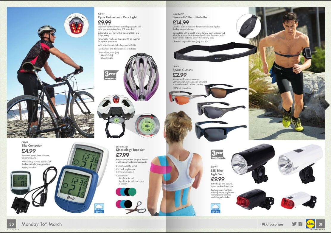 crivit sports led bike light set review bicycling and. Black Bedroom Furniture Sets. Home Design Ideas