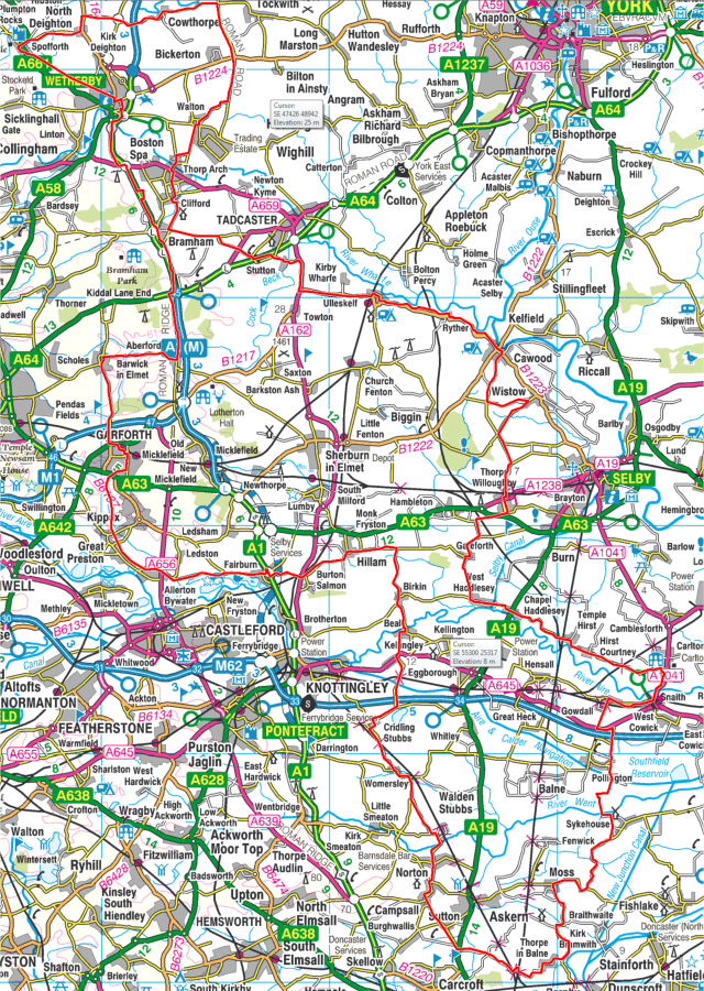 New Garforth imperial century route.png