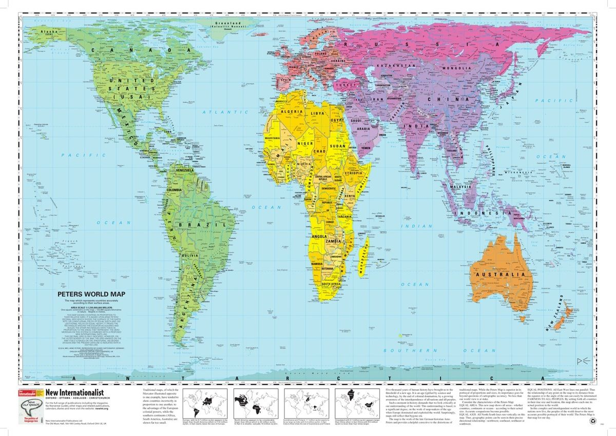 E.g Compare The Map On That Site With A Peters Projection Map   Easiest  Comparison Is To Look At The Size Of Greenland On Both Maps.