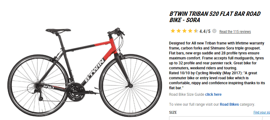 Buy a B'Twin Triban 520? | CycleChat Cycling Forum