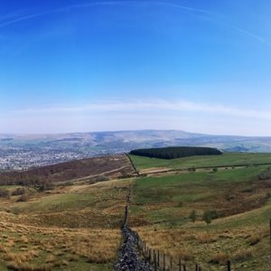 Panorama of Simmondley and Glossop
