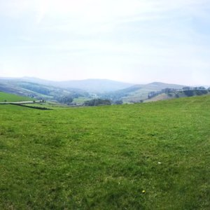 Panorama looking towards Hayfield