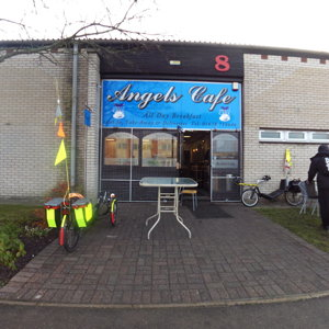 starting point, Angels Cafe, MIldenhall