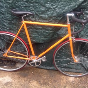 Bright Orange Fixie