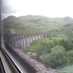 Glenfinnan viaduct from the train