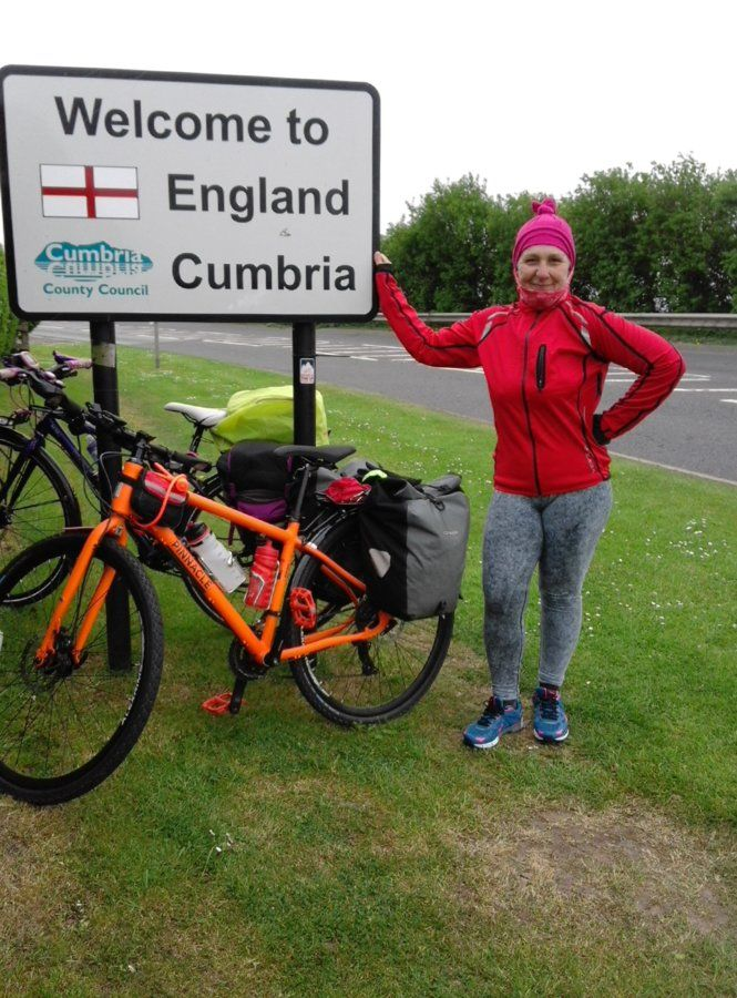 I cycled to England from Scotland!