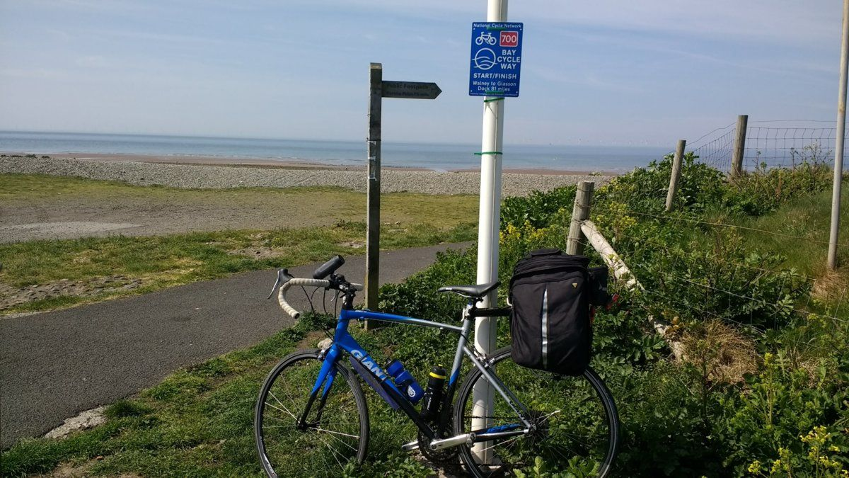 Start of Bay Cycle Way on Walney Island